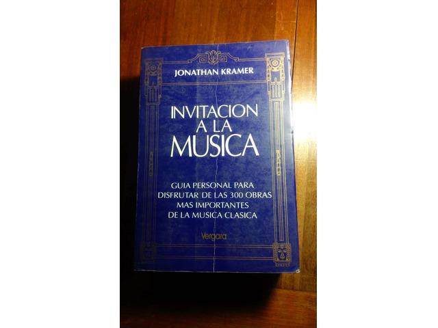 VENDO - Invitación a la música - Jonathan Kramer