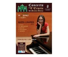 María Linares, piano. Concerts a L´ermita de Santa Ana