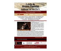 Pablo Martinez, piano. I Ciclo de Jóvenes Pianistas. Eutherpe en San Pío V