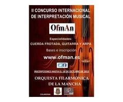 """""""II CONCURSO INTERNACIONAL DE INTERPRETACIÓN MUSICAL OFMAN"""""""