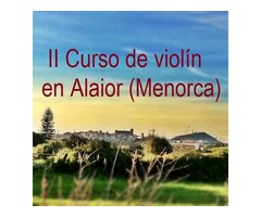 Curso de violín - Menorca - Julio 2016