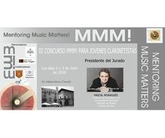 CONCURSO  MMM! para Jóvenes Clarinetistas