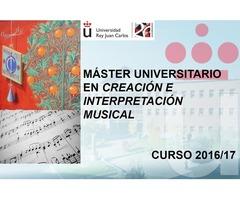 MÁSTER EN CREACIÓN E INTERPRETACIÓN MUSICAL UNIVERSIDAD REY JUAN CARLOS