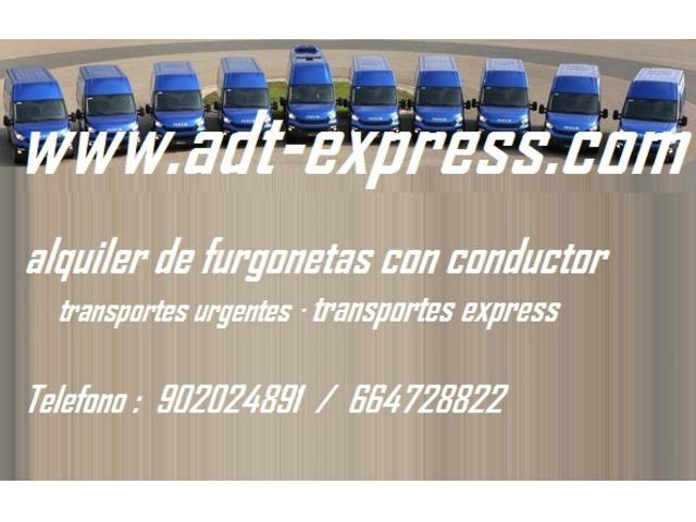 Alquiler furgonetas con conductor : transporte carga