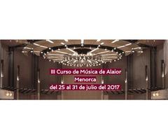 CURSO DE MÚSICA EN MENORCA
