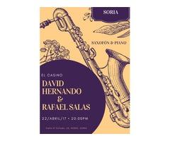 David Hernando & Rafael Salas en SORIA: Saxofón y piano.