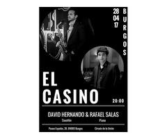 David Hernando & Rafael Salas en BURGOS. Saxofón y piano.
