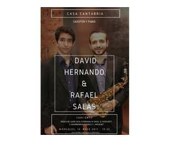 David Hernando & Rafael Salas - Casa Cantabria - Concierto Saxofón y piano.