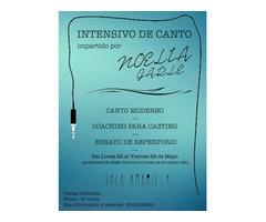 INTENSIVO DE CANTO MODERNO EN MADRID CENTRO