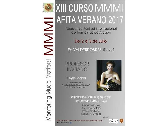 XIII CURSO DE TROMPA MMM! & AFITA JULIO 2017