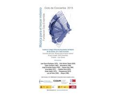 Concierto del Zahir Ensemble el 26 de octubre en el COAM