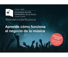5ª Edición del Postgrado en Gestión Empresarial de la Música, Universitat de València