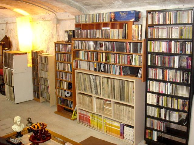 Colección de LPs de vinilo de música clásica
