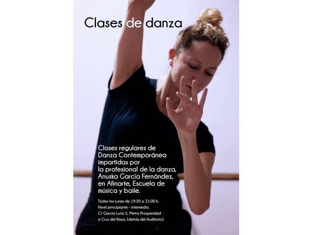 Clases regulares de Danza Contemporánea 912 504 999