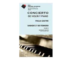 Concierto de violín y piano, por Paula Sastre
