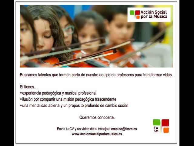 Profesional #Violín #Cello #Viola #Cuerda para Madrid. ¿Quieres formar parte de un gran cambio